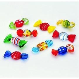 Bonbons en verre - lot de 6 pièces
