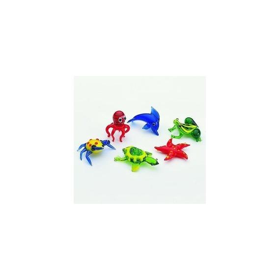 Animaux marins en verre