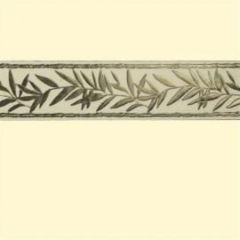 Bande de cire branche d'olivier couleur or