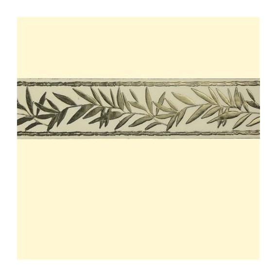 NOUVEAUTE' - Bande de cire décorative Branche d'olivier - couleur or