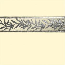 Bande de cire branche d'olivier couleur argent