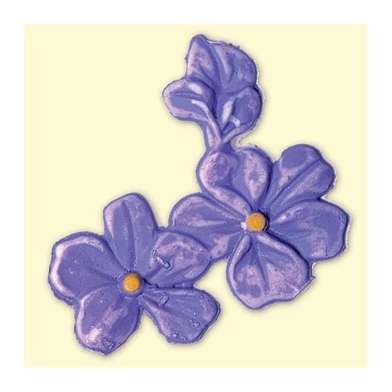 Décoration en cire Printemps - Violettes