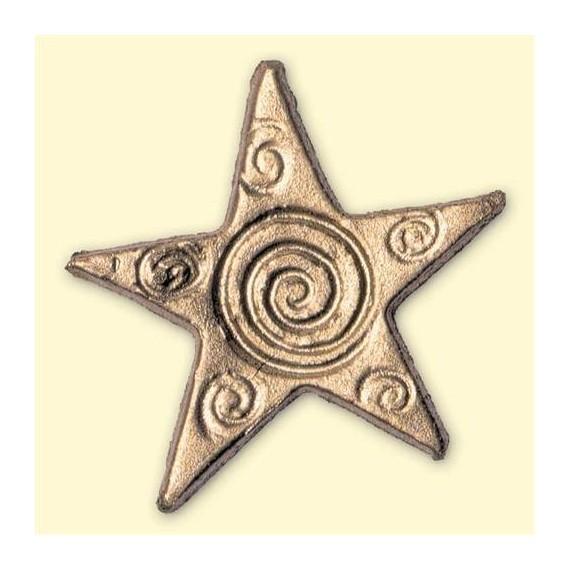 Motif de décoration Noël - Etoiles d'or