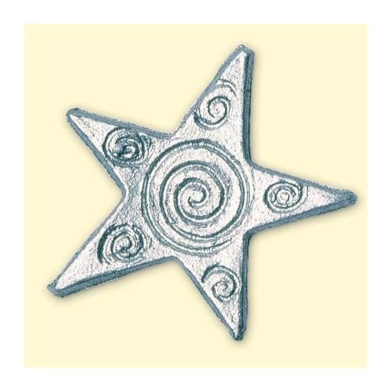 Motif de décoration Noël - Etoiles d'argent
