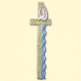 Décoration pour bougies en cire - Grande croix