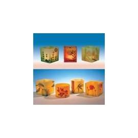 Moule carré pour lanternes de cire 125 x 135 mm