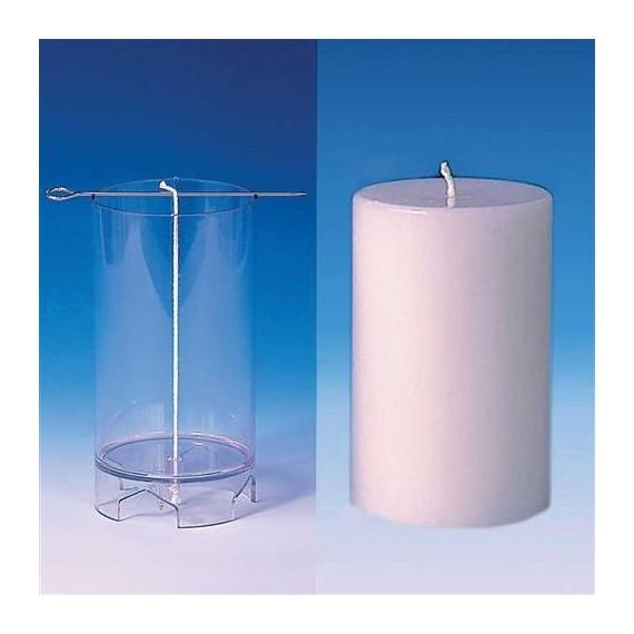 Moule pour bougies Cylindre (sommet plat) 82 x 130 mm