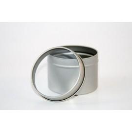 Boite en metal* avec couvercle transparent