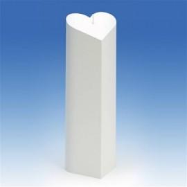 Moule pour bougies Cylindre en forme de Coeur