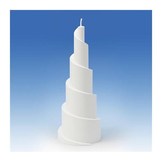 Moule pour Bougies Pyramide en Spirale