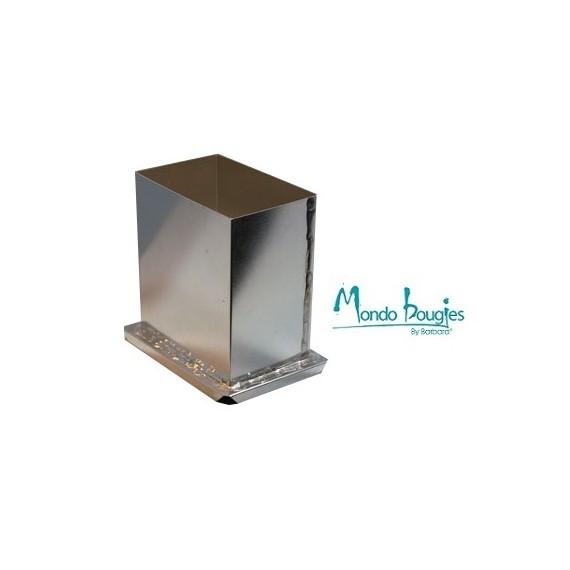 Moule en métal pour bougies Rectangle H 15,2 cm