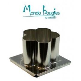 Moule en métal pour bougies Fleur H 7,6 cm