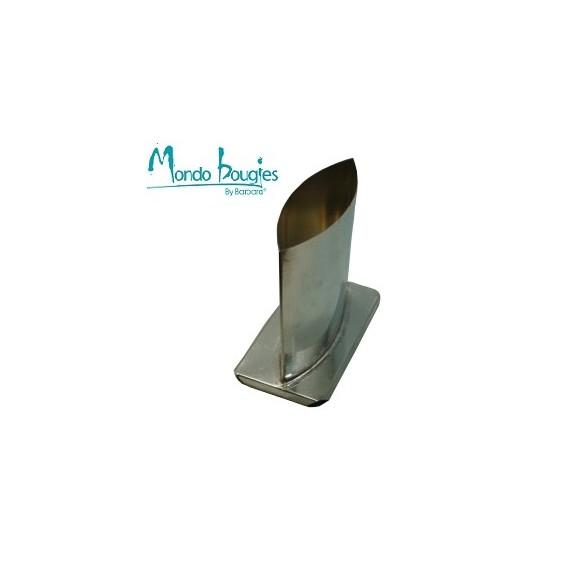 Moule en métal pour bougies Ellipse H 15,2 cm