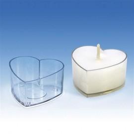 Moules coeurs pour bougies chauffe-plats