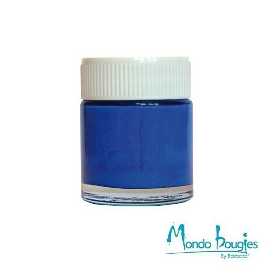 Peinture pour bougies couleur bleu