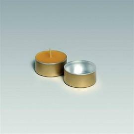 Coupelles couleur or pour bougies chauffe-plat