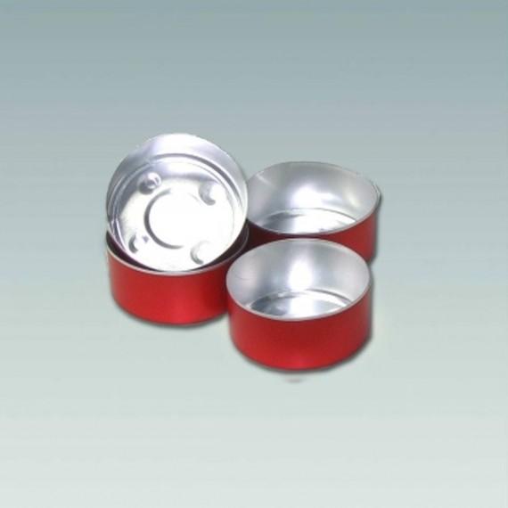Coupelles rouges pour bougies chauffe-plat