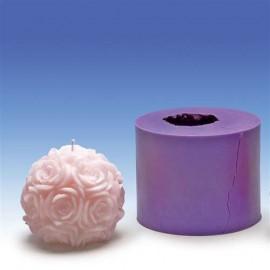 Moule en Silicone Boule de roses