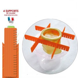 Supports de calage pour moules latex