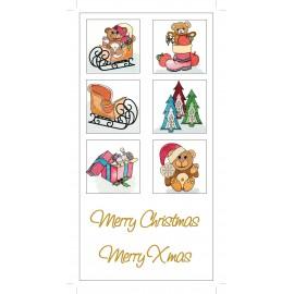 Images transfert pour décoration de bougies - Motif Noël