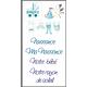 Images transfert pour décoration de bougies - Motif Naissance bleu