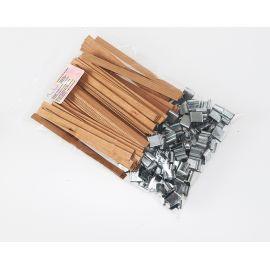 Mèches doubles en bois 9 x 128 x 1 mm