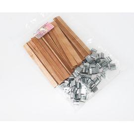 Mèches doubles en bois 12 x 128 x 1 mm
