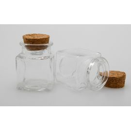 Mini carré 30 ml avec bouchon liège