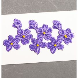 Décoration pour bougies en cire - Violettes