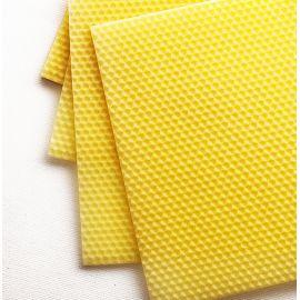 Plaques de cire d'abeille pour bougies roulées