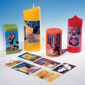 Papier transfert photo sur bougies - Mondo Bougies