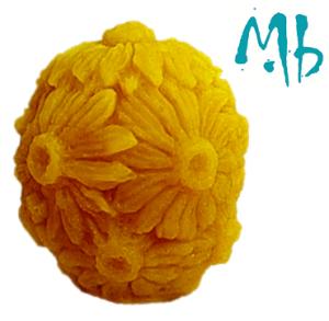 Moule bougie boule fleurie