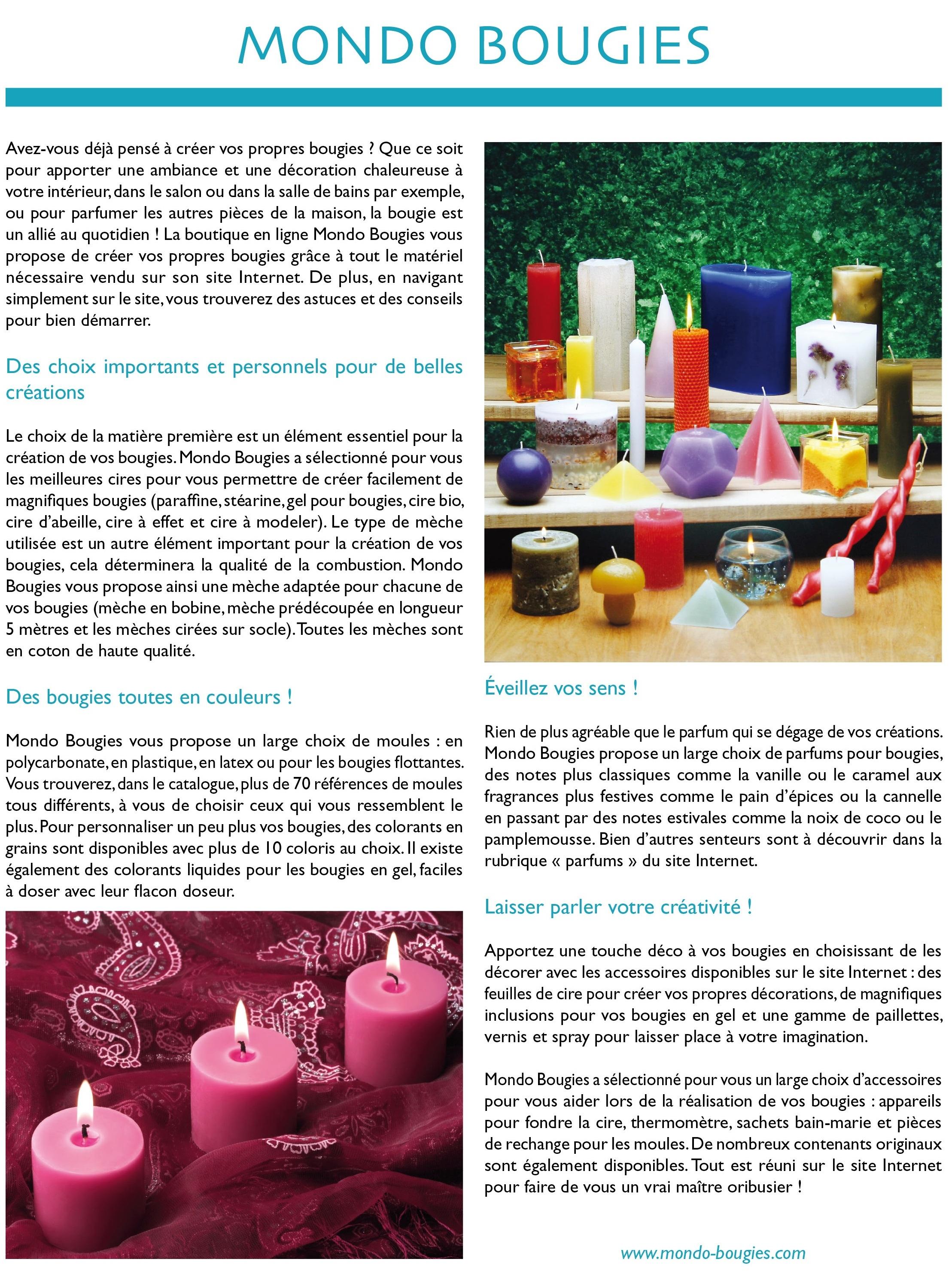 Mondo Bougies - Déco Mag page 1